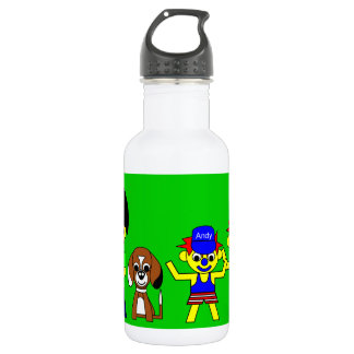 Farther, Beagy, and the boys Stainless Steel Water Bottle