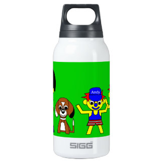 Farther, Beagy, and the boys Thermos Water Bottle