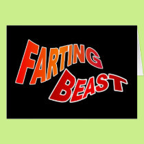 FARTING BEAST - hilarious innuendo humor Card