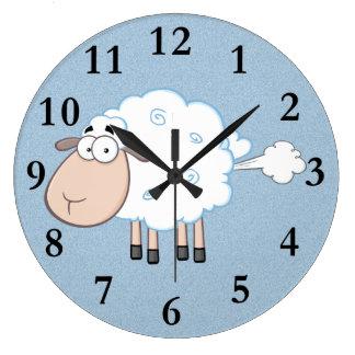 FARTING CARTOON SHEEP CLOCK
