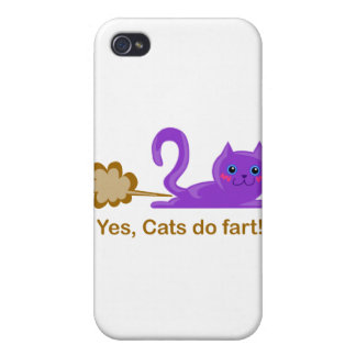 Farting cat, cat farts! iPhone 4/4S cover