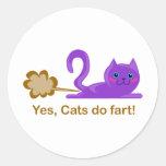 Farting cat, cat farts! sticker