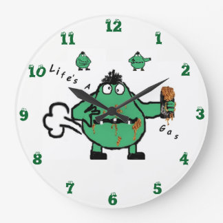 Farting 'Life's A Gas ' Wall Clock