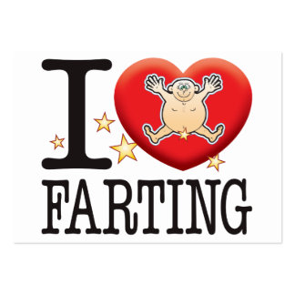 Farting Love Man Large Business Cards (Pack Of 100)