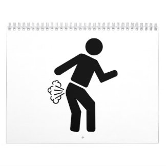 Farting person wall calendars