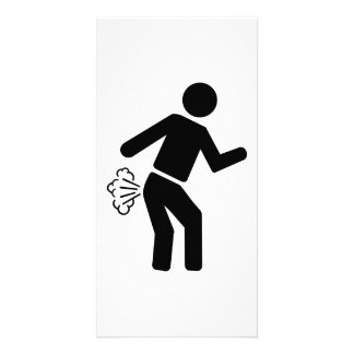 Farting person customized photo card