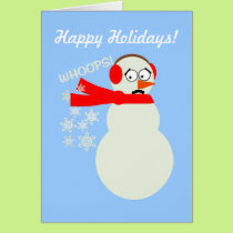 Farting Snowman Cartoon Card