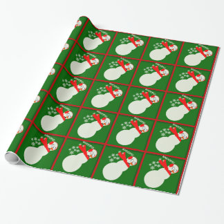 Farting Snowman Cartoon Caricature Gift Wrapping Paper