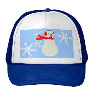 Farting Snowman Cartoon Trucker Hats