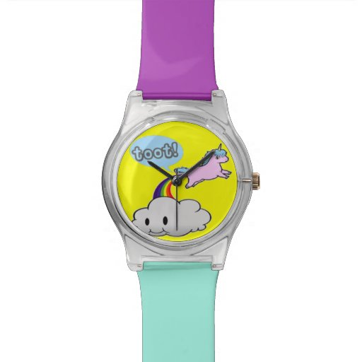 Zazzle Farting Unicorn Watch