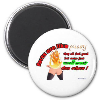 farts and pussy 2 inch round magnet