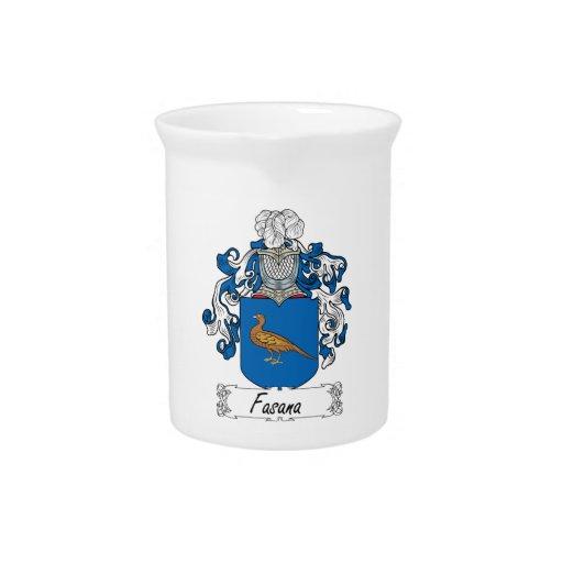 Fasana Family Crest Beverage Pitcher