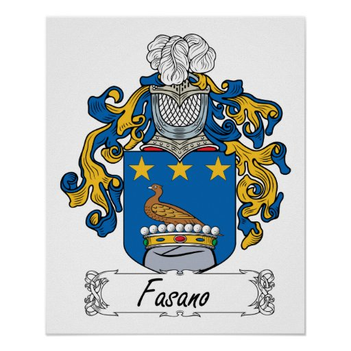 Fasano Family Crest Posters