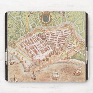 Fascimile de un plan de Le Havre Alfombrilla De Ratones