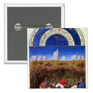 Fascimile of December Pinback Button