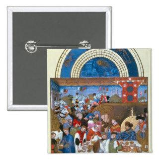 Fascimile of January: banquet scene Pin
