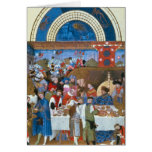 Fascimile of January: banquet scene Greeting Card