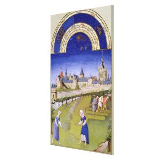 Fascimile of June: Haymaking Canvas Print
