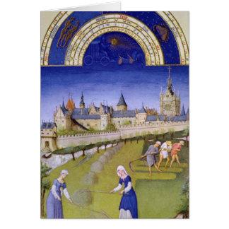 Fascimile of June: Haymaking Card
