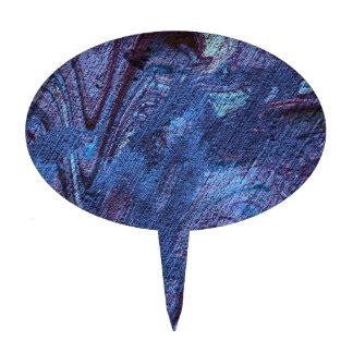 fascinación abstracta azul figuras para tartas