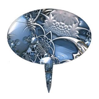 Fascinación azul cristalina figura para tarta