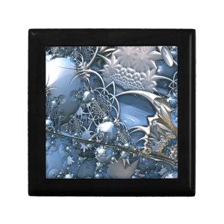 Fascinación azul cristalina joyero cuadrado pequeño