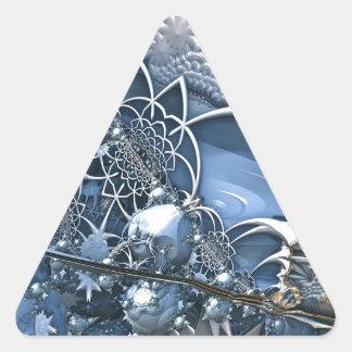 Fascinación azul cristalina pegatina triangular