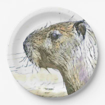 fascinating altered animals - Capybara Paper Plate