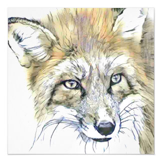 fascinating altered animals - Fox 2 Magnetic Card