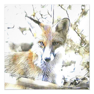 fascinating altered animals - Fox Magnetic Card
