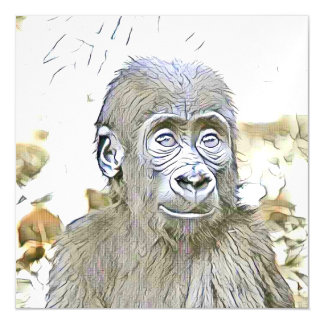 fascinating altered animals - Gorilla Baby Magnetic Card