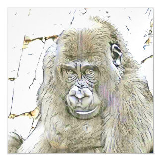 fascinating altered animals - Gorilla Magnetic Card