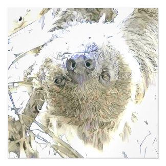 fascinating altered animals - Sloth Magnetic Card