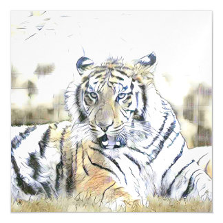 fascinating altered animals -Tiger Magnetic Card