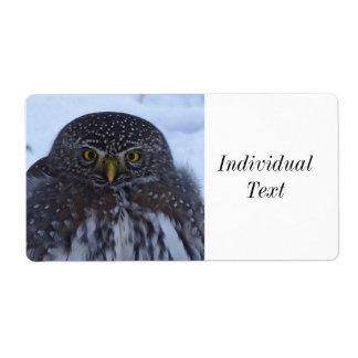 fascinating owl label