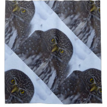fascinating owl shower curtain