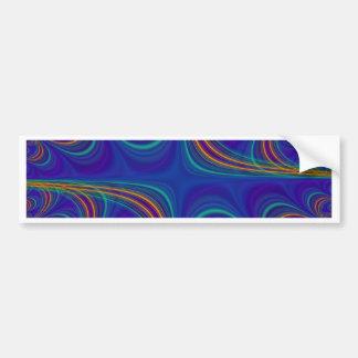 fascinating spiritual, blue bumper sticker