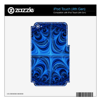 fascinating spiritual, ice blue skins for iPod touch 4G