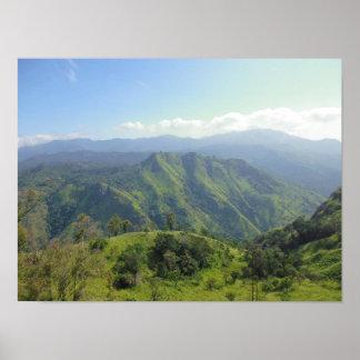 Fascinating View on Sri Lanka Mountains Poster