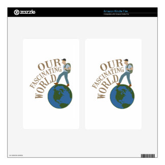 Fascinating World Decal For Kindle Fire