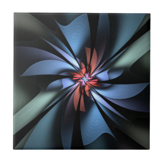 Fascination Blue and Green Abstract Ceramic Tile
