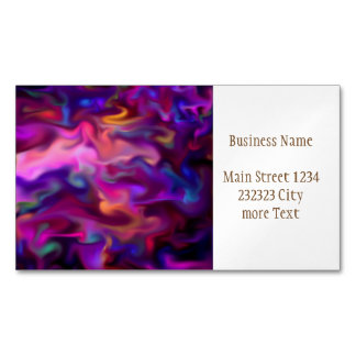 fascination fluid, hot pink business card magnet