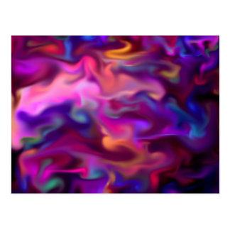 fascination fluid, hot pink postcard