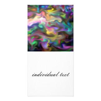 fascination fluid, multicolor customized photo card