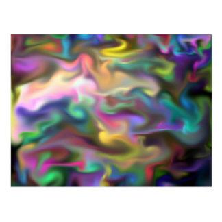 fascination fluid, multicolor postcard