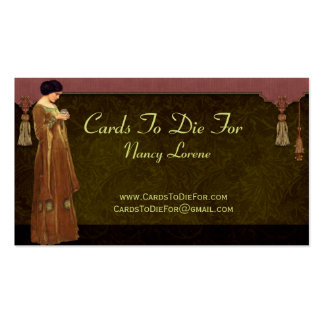 Fascination in Green Gold Rose Business Cards