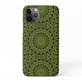 Fascination mushroom kaleidoscope iPhone 11 pro case