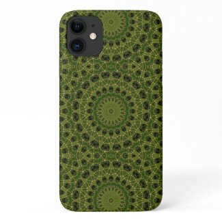 Fascination mushroom kaleidoscope iPhone 11 case