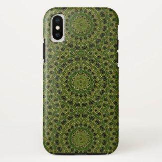 Fascination mushroom kaleidoscope iPhone x case
