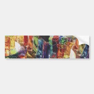 """Fascination"" Watercolor of Art Glass Bumper Sticker"
